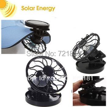 Baseball cap Brim Fan,  Summer cap fan, Solar Powered,  Clip-on Mini Cell Fan
