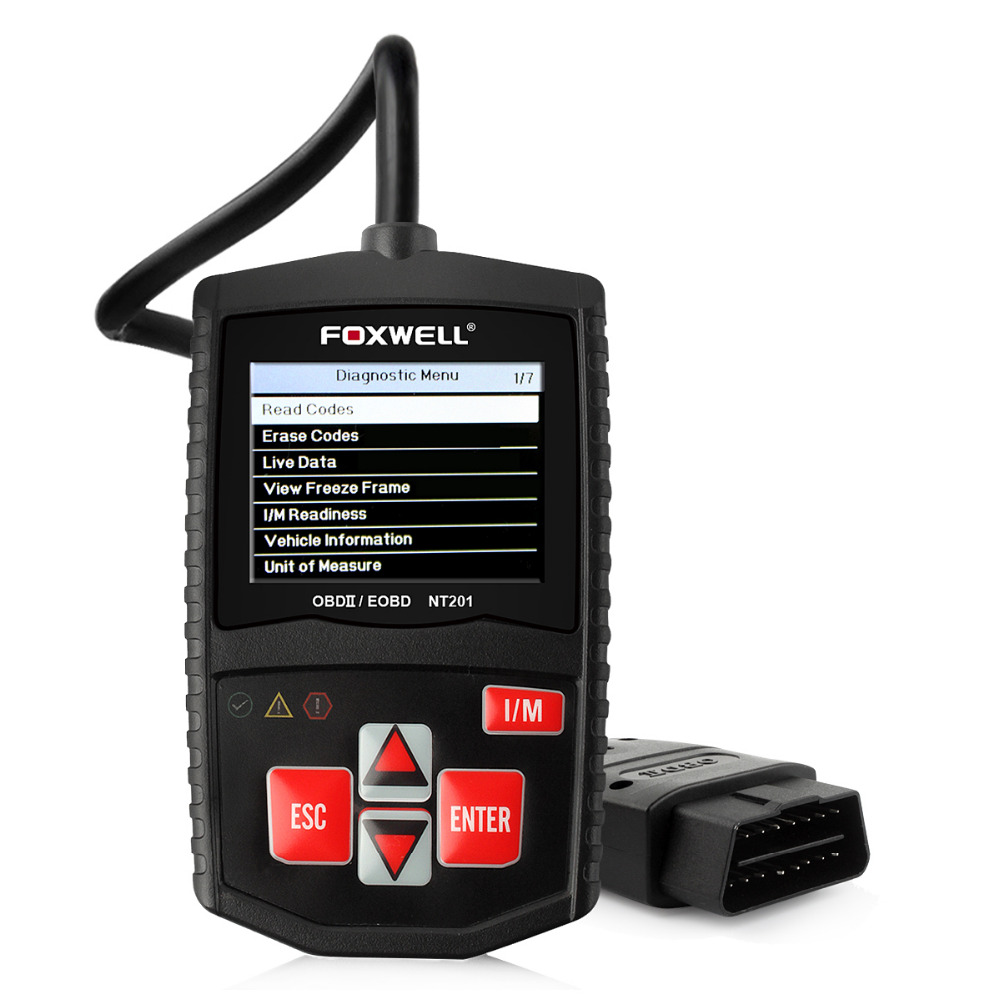 Auto Diagnostic Scan Tool foxwell scanner nt201 OBD II CAN Code Reader OBD2 Diagnostic Tool OBD 2 Code Readers Scan Tools Turn(China (Mainland))