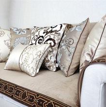 Fashion coffee brown khaki pillow/almofadas case,european modern geometric flower seat back cushion,decorative throw pillow(China (Mainland))