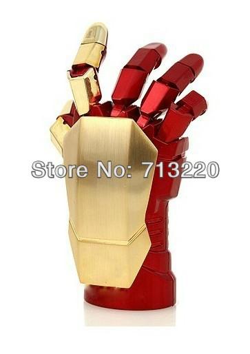 2015 Hot Fashion Avengers Iron Man 3 hand LED Flash 2.0 Memory Drive Stick 8GB Pen/Thumb/Car Boy Best Gifts Free Shipment(China (Mainland))