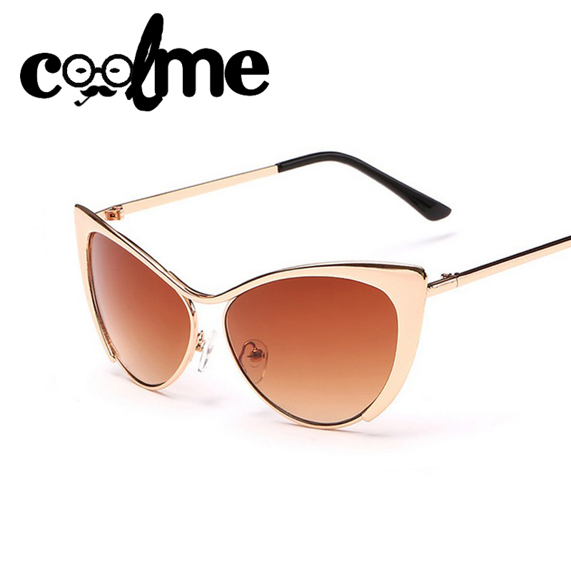 Metal Cateye Sunglasses Vintage Designer Glasses Points Women Brand Sun glass Vogue Italian Lady Fashion Oculos Feminino D9001(China (Mainland))