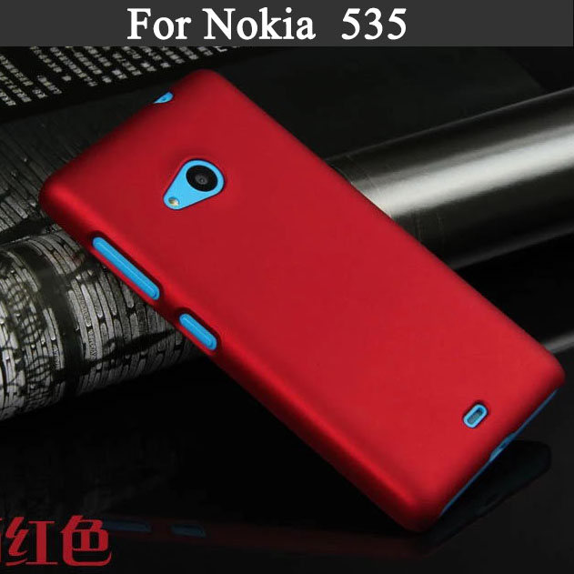 High Quality Patterns fashion Rubber Matte Cover Hard Plastic Case for Microsoft Nokia Lumia 535 Phone Cover For Nokia 535 N535(China (Mainland))