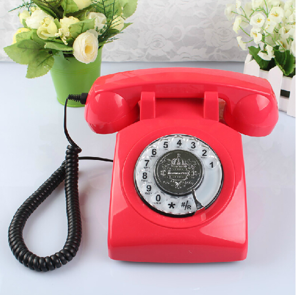 Vintage Rotary Phone Retro Phone Corded Home Antique Telephone old fashioned Rotary Telephone(China (Mainland))