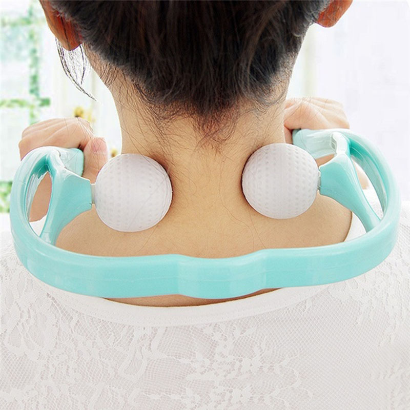 2016 New Arrive 1pcs Body Neck Massager Shoulder Back Waist Massage Blue Color Relaxation Beauty Health Tool Free Shipping(China (Mainland))