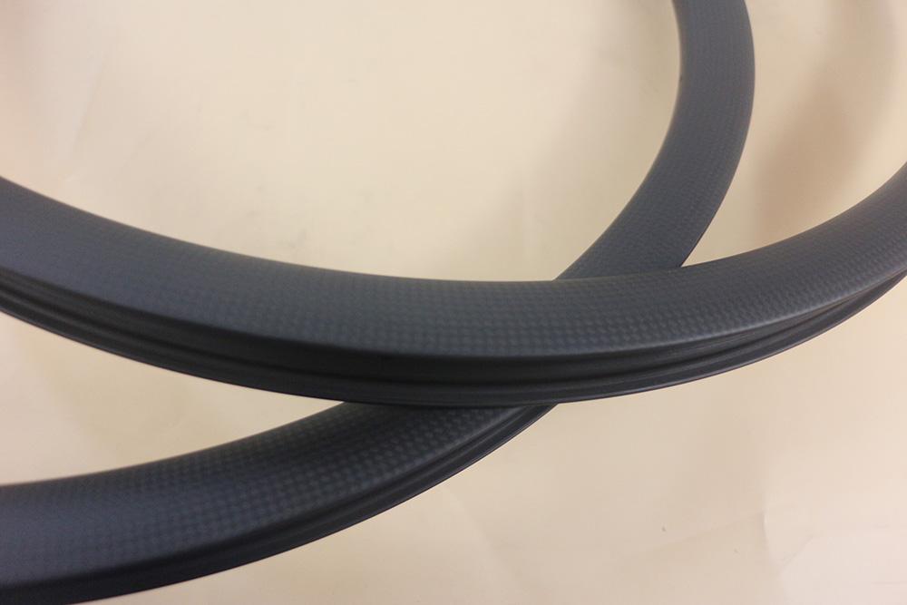 3k matte hookless carbon bicycle rim