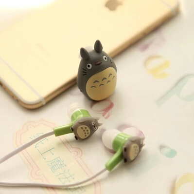 Kawaii Totoro Cartoon In-Ear Headphone Earphone Headset Portable Music Player FOD(China (Mainland))