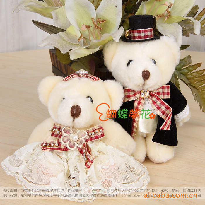 5inch MINI Love Soft Teddy Bear Toys wedding accessories bouquet Happy valentine's day Christmas Gift Cheap baby kids Toys(China (Mainland))