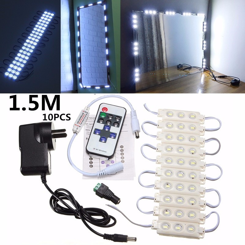 5630 SMD 150cm 10pcs 30 LED Module Light Dimmer Illuminated for Bathroom Make Up Cosmetic Mirror DV12V 7W Waterproof IP65 220LM(China (Mainland))
