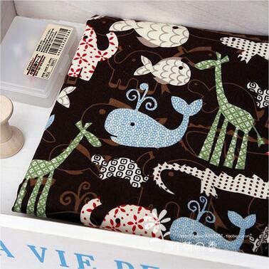 1pcs DIY Handmade Patchwork Fabric Cotton Cloth Double Fleece Baby Soft Safety Animal Park Cloth 50*110cm Free Shipping # JC419(China (Mainland))