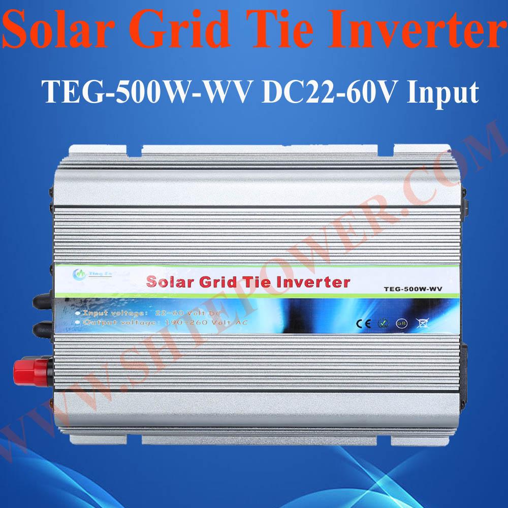 24V 500W solar inverter, 500W tie grid solar power converter, 24v dc to 120vac inverter(China (Mainland))