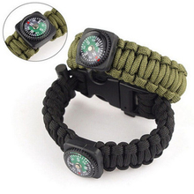 Outdoor Camping Parachute Cord tool Emergency emergency Kit Survival Bracelet Rope with Buckle Compass bracelet Starter