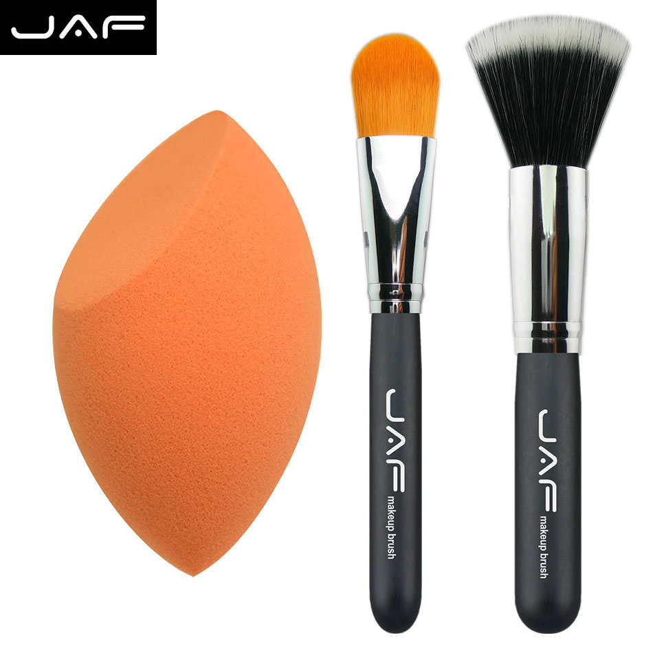 bb&cc makeup tools brush Kabuki Makeup Brush Set & kit Cosmetics Tool 3pcs/set makeup sponge Pro Foundation blush Liquid brush(China (Mainland))