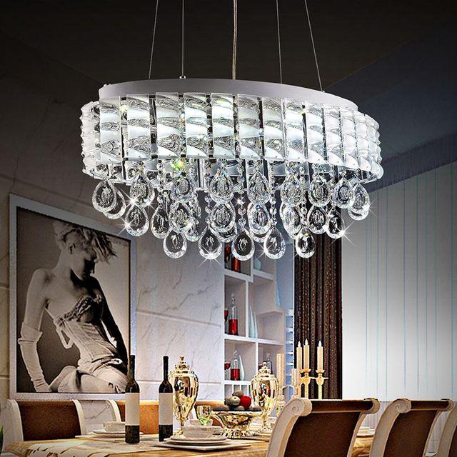 moderne glanz oval kristall kronleuchter luxus kristall restaurant leuchte schlafzimmer lampe. Black Bedroom Furniture Sets. Home Design Ideas