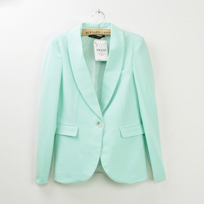 Pale Green Blazer | Fashion Ql