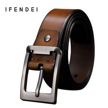 Buy IFENDEI Leather Men Belt Vintage Fashion Top Layer Cowhide Belt Waist Hand Threading Genuine Leather Pin Buckle Strap for $20.80 in AliExpress store