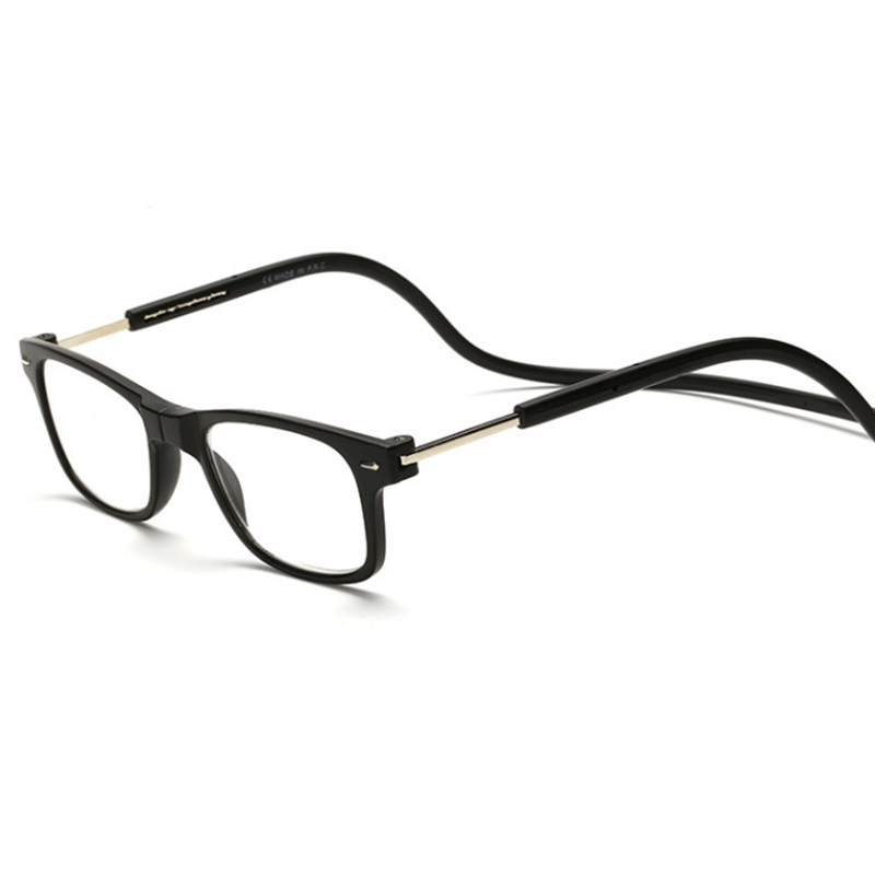 Fashion Magnetic Reading Glasses Men Women Hanging Neck Folding Glasses Magnetic Eyeglass Plastic Frames Gafas De Lectura Oculos(China (Mainland))