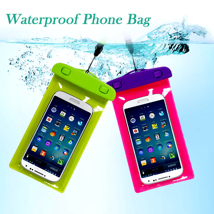 "PVC Waterproof Phone Case with band Underwater Phone Bag For 4.5""-5.5"" phone for iphone 6 / plus,for samsung galaxy S4 S5(China (Mainland))"