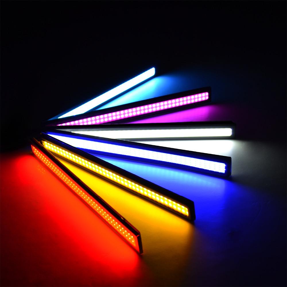 100% Waterproof Ultra-thin 1PCS 20W COB Chip LED Daytime Running Light DRL Fog car lights car styling car day running lights(China (Mainland))
