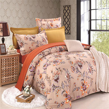 Sookie 3 Pieces King Size Bedding Sets Queen Size Pastoral Style Flower 4pcs Duvet Cover Set Pillow Cases Flat Sheet Bed Linen(China (Mainland))