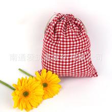 2016 Top Fashion Time-limited Pen Case Estuches School Wholesale Cotton Bags Cloth Tote Bag Plaid Folding Drawstring 14*16cm Az(China (Mainland))