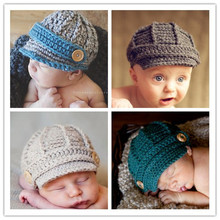 2015 Newborn Boy Hat Baby Newsboy Cap Baby Fotos Baby Clothing Outfits cap for winter(China (Mainland))