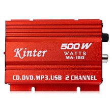 Kinter MA - 2 Channel 150 500W 5V Mini Hi-Fi Stereo Digital Power Amplifier MP3 Car Audio Speaker(China (Mainland))