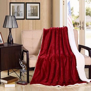 2017 soft warm blanket coral sherpa blankets travel sofa - Cobertor para sofa ...