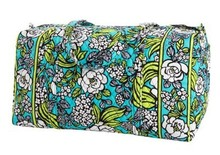 VB large luggage Pure cotton cloth bags sport bag women Vera B Large Duffel Free shipping(China (Mainland))