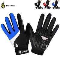 WOLFBIKE New Long Cycling Gloves Road Mountain Bike Windproof Antiskid Full Finger Gloves Bicycle Gloves Mittens