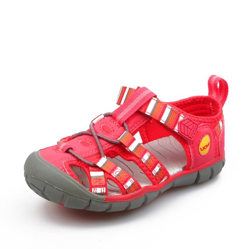 Дети обувь лето дети сандалии мальчики и девочки дети вырез лето пляж обувь кожа размер 26 - 33