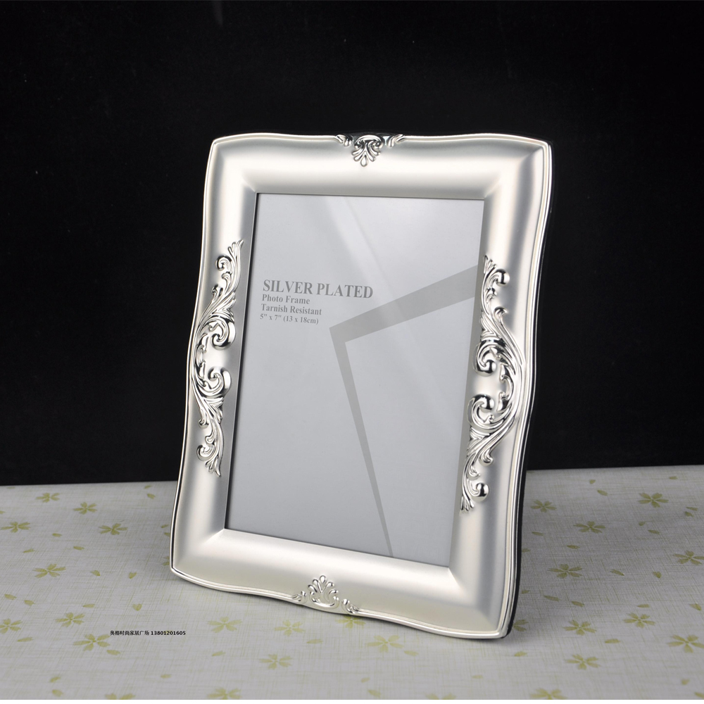 Cheap metal picture frames - Good Quality Luxury Silver Plated Metal Photo Frame Picture Frames Mpf003 China Mainland
