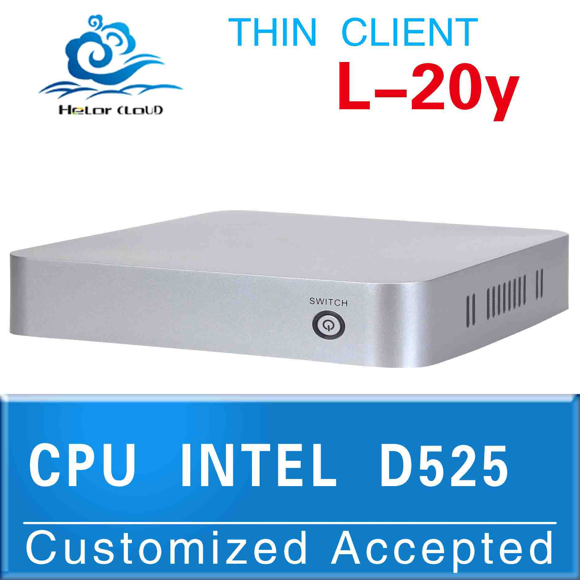 Fanless mini computer Intel Atom D525(1.8GHZ Frequency) HDMI+VGA 4*USB station PC support Bluetooth embedded Audio and video pc(China (Mainland))