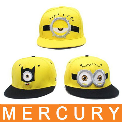 produto New Despicable Me Despicable Me little yellow man child models along flat hat  baseball cap influx of men and women hip-hop hat