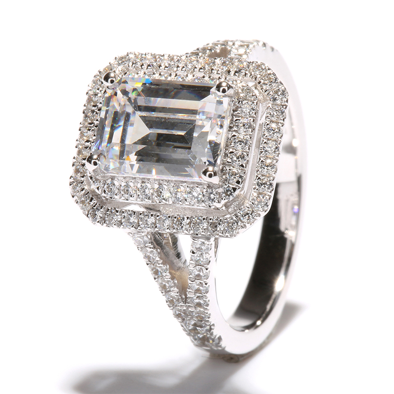 Luxury 2 carat ct emerald cut wedding engagement ring best for Best quality wedding rings