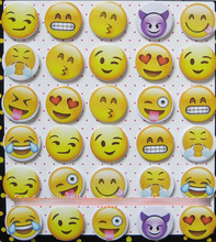 emoji 4.3 CM 30 pieces/lot set PIN BADGES new Cartoon& animation PIN back BUTTONS PARTY BAG GIFT CLOTH