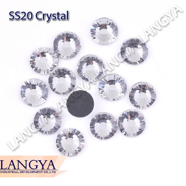 Clear Crystal Color DIY Ion On More Shiny Big Promotion SS20 1440pcs DMC Hotfix Rhinestones(Hong Kong)