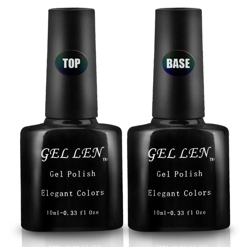 Gel Len 2pcs Base and Top Coat UV LED DIY Nail Art Gel Polish Perfect Summer Professional Brand<br><br>Aliexpress
