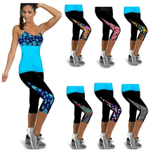 2015 Brand New Capris Leggings New Arrival High Waisted Patch Work Workout Fitness Legging  Pant Exercise Gym Wear10 Color(China (Mainland))
