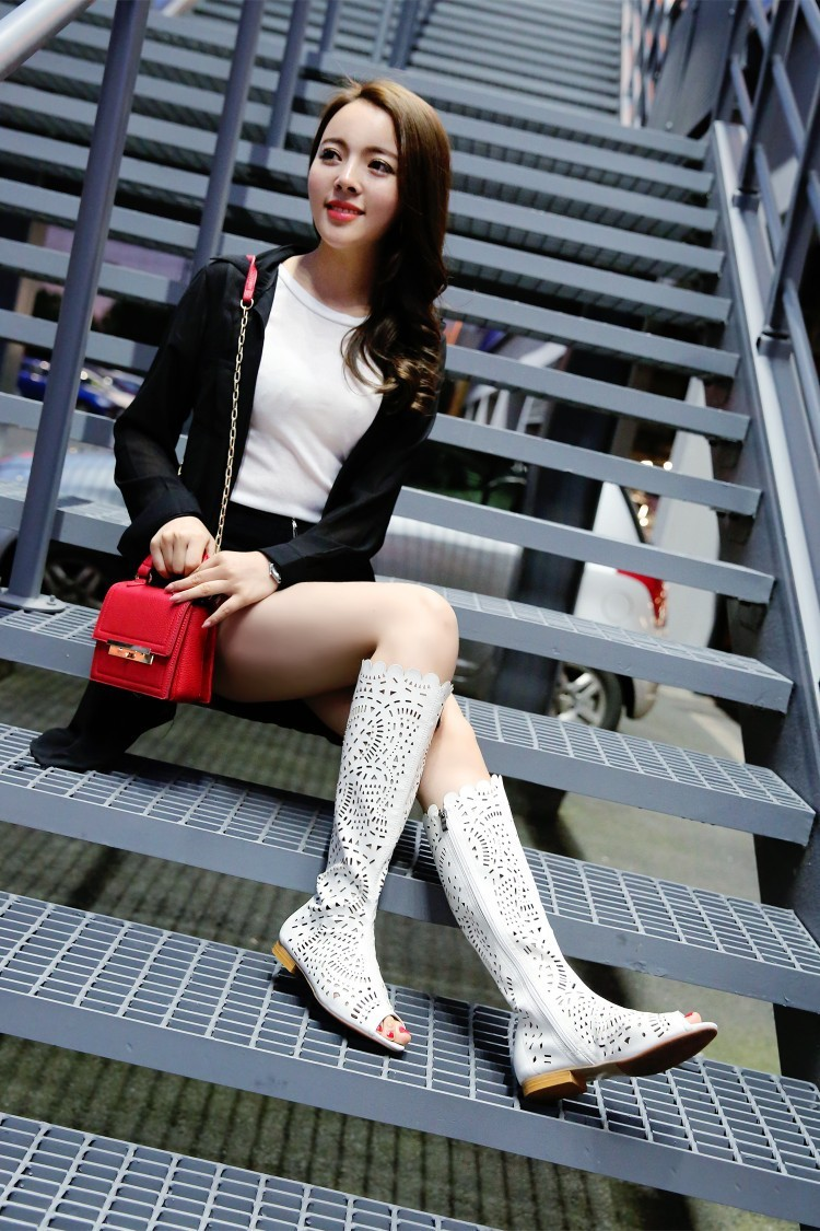 Soft Leather Solid Round Toe Women Fashion Mid-calf Boots,2014 New