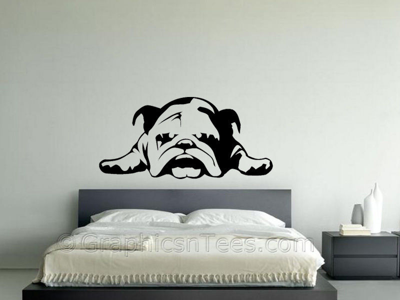 D193 BRITISH BULLDOG PUPPY STICKER, WALL ART DECAL, BEDROOM, LOUNGE, ENGLISH BULLDOG(China (Mainland))
