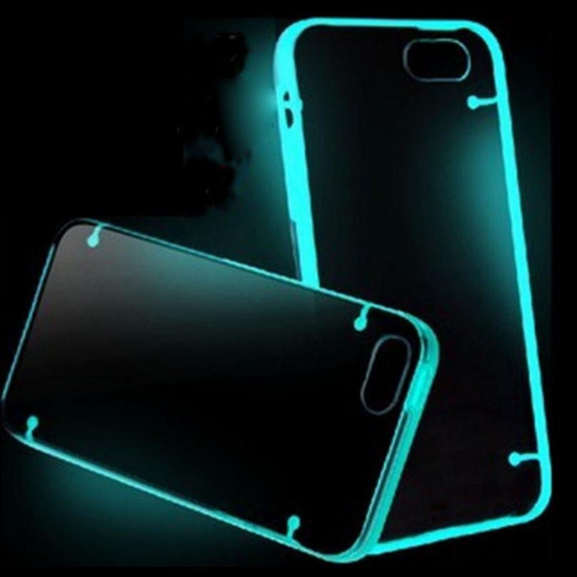 """Candy Color Fluorescence TPU Rubber Ultra Thin Transparent Clear Case Novelty Luminous Cover for iPhone 6 Plus 5.5"""" Top Quality(China (Mainland))"""