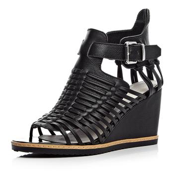 2015 женщин обувь из натуральной кожи сандалии размер ( 34-39 ) мода сексуальная гладиатор летние клинья высокие каблуки на платформа бесплатная доставка