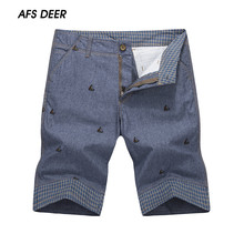 2016 New Arrival Hot Sale England Style Casual Shorts Men Cool Summer Knee Length Solid Slim Fashion Short Pants