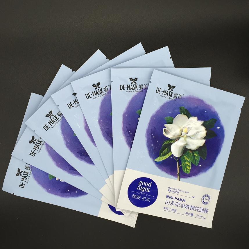 7PCS/Lot Camellia Clarifying Whitening Mask / Essence Oil Skin Care Facial Mask(China (Mainland))
