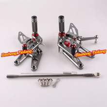 CNC Adjustable Rearset Rear Set Foot pegs For Yamaha YZF R6 2003 2004 2005 & R6S 2006-2009 Aluminum Alloy Grey