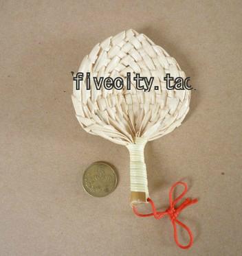 promotion cheap natural mini Palm-Leaf Fan, Straw hand fan 7*6cm(China (Mainland))