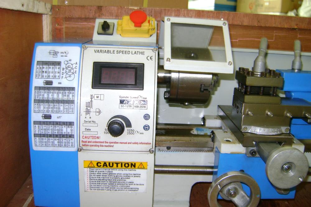 Non-ferrous metal wooden working Variable speed mini-lathe bench lathe machine(China (Mainland))