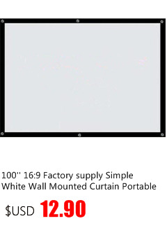 Thinyou Factory sales 72 Inches 16:9 Wall Mounted Matt White Projection Screen For MINI LCD LED DLP Projector without Frame
