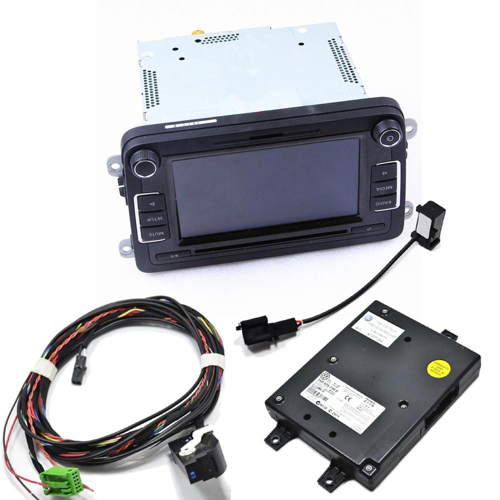 D'origine RCD510 + Cable + Microphone+Code+9W2 Module Bluetooth Pour VW Passat B6 Jetta Golf Touran Caddy 5ND035190 1K8035730D(China (Mainland))