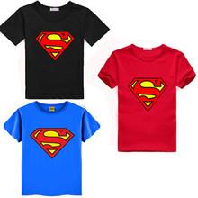 Новый Хлопок Дети Мальчики Супермен С Коротким Рукавом Футболки Дети Тройники Костюм Топы Оптовая(China (Mainland))